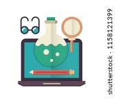 learning tools flat icon.   Shutterstock .eps vector #1158121399