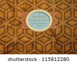 old paper with seamless pattern ... | Shutterstock .eps vector #115812280