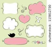 vintage doodle frames | Shutterstock .eps vector #115812730