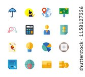 16 finance icons set | Shutterstock .eps vector #1158127336
