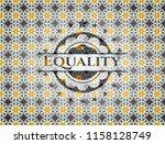 equality arabic badge....   Shutterstock .eps vector #1158128749