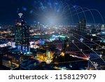 network connection digital...   Shutterstock . vector #1158129079