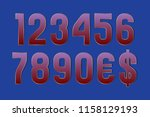 just neat numbers with currency ... | Shutterstock .eps vector #1158129193