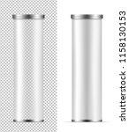 transparent packaging for... | Shutterstock .eps vector #1158130153