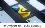 cupertino  usa   17 august 2018 ... | Shutterstock . vector #1158135889