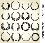 laurel wreath set | Shutterstock .eps vector #115814200