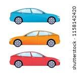 set of modern cars for family ... | Shutterstock .eps vector #1158142420