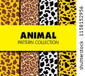 animal pattern collection | Shutterstock .eps vector #1158152956