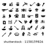 Cooking And Kitchen Icon Set In ...
