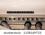 super charged. retro engine... | Shutterstock . vector #1158169723