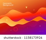 colorful abstract geometric... | Shutterstock .eps vector #1158173926