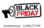 black friday sale inscription... | Shutterstock .eps vector #1158177799