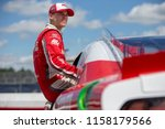 Small photo of August 11, 2018 - Lexington, Ohio, USA: Ryan Reed (16) gets ready to qualify for the Rock N Roll Tequila 170 at Mid-Ohio Sports Car Course in Lexington, Ohio.
