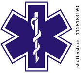 medical symbol of the emergency ... | Shutterstock . vector #1158183190