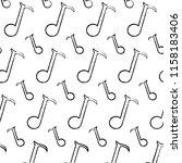 grunge quarter musical note... | Shutterstock .eps vector #1158183406