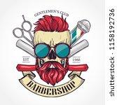 color barbershop logo | Shutterstock .eps vector #1158192736