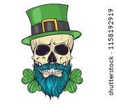 color handdrawn skull of... | Shutterstock .eps vector #1158192919