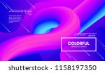 colorful liquid shapes.... | Shutterstock .eps vector #1158197350