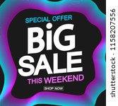 big sale  poster design... | Shutterstock .eps vector #1158207556