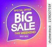 big sale  poster design... | Shutterstock .eps vector #1158207559