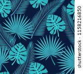 seamless tropical leaves   ... | Shutterstock .eps vector #1158216850