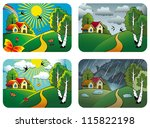 set of different weather... | Shutterstock . vector #115822198