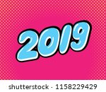 happy new year card design in... | Shutterstock .eps vector #1158229429