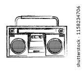 grunge retro radio music object ... | Shutterstock .eps vector #1158234706