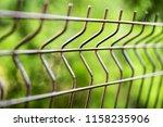 curved welded steel fence... | Shutterstock . vector #1158235906