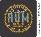label of the caribbean rum. on... | Shutterstock .eps vector #1158236146