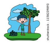 color nice child boy in the... | Shutterstock .eps vector #1158239893