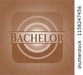 bachelor wood emblem | Shutterstock .eps vector #1158247456