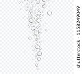 air bubbles set isolated on... | Shutterstock .eps vector #1158249049
