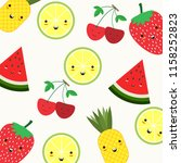 fruit background. colorful... | Shutterstock .eps vector #1158252823