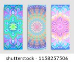 yoga card  flyer  poster  mat... | Shutterstock .eps vector #1158257506