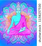 yoga card  flyer  poster  mat... | Shutterstock .eps vector #1158257530