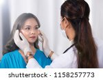 asian patient was checked... | Shutterstock . vector #1158257773