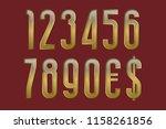 solemn golden numbers with...   Shutterstock .eps vector #1158261856