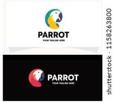 parrot logo design template | Shutterstock .eps vector #1158263800