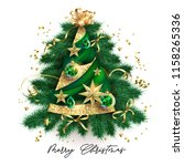 abstract christmas tree with... | Shutterstock .eps vector #1158265336