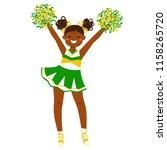 cheerleader girl in bright... | Shutterstock .eps vector #1158265720