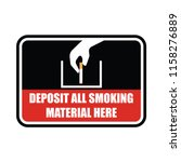 no smoking area for signboard... | Shutterstock .eps vector #1158276889