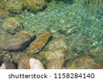 beautiful crystal clear water... | Shutterstock . vector #1158284140