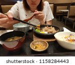japanese food set   Shutterstock . vector #1158284443