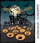 halloween card | Shutterstock .eps vector #115828993