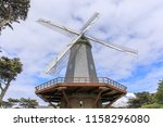south windmill  in the golden ... | Shutterstock . vector #1158296080