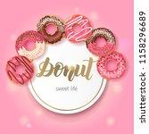 sweet bakery background frame... | Shutterstock .eps vector #1158296689
