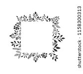 hand drawn squared frames with... | Shutterstock .eps vector #1158300313