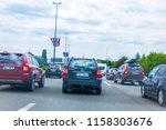 highway a1 near zagreb  croatia ... | Shutterstock . vector #1158303676