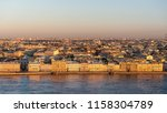 sunset in st. petersburg. city... | Shutterstock . vector #1158304789
